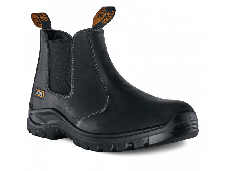 JCB CHELSEA Safety Boot Black Smooth