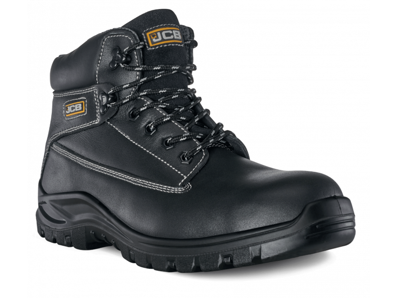 JCB HOLTON Safety Boot Black Smooth