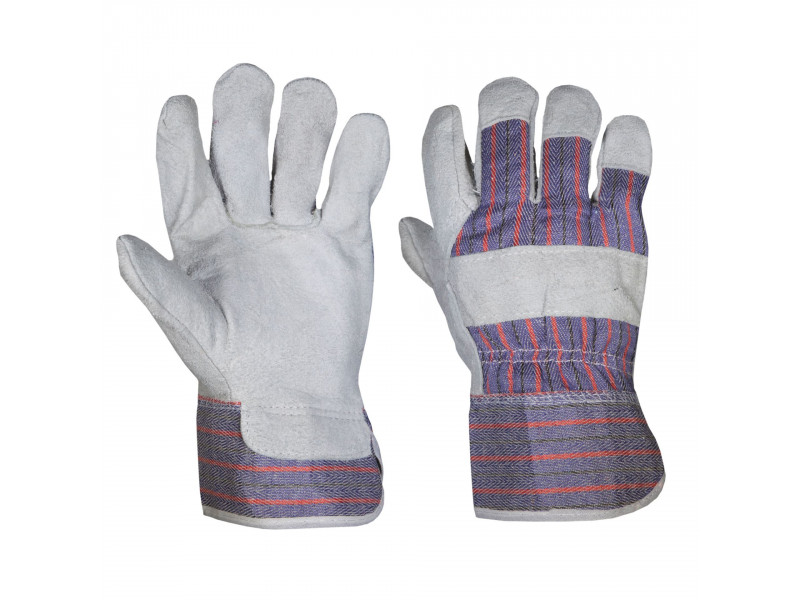 Chrome Leather Candy Stripe Gloves