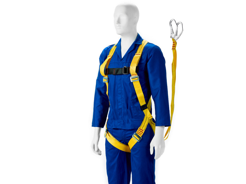 Body Harness - Full With Double Lanyard And Scaffolding Hooks